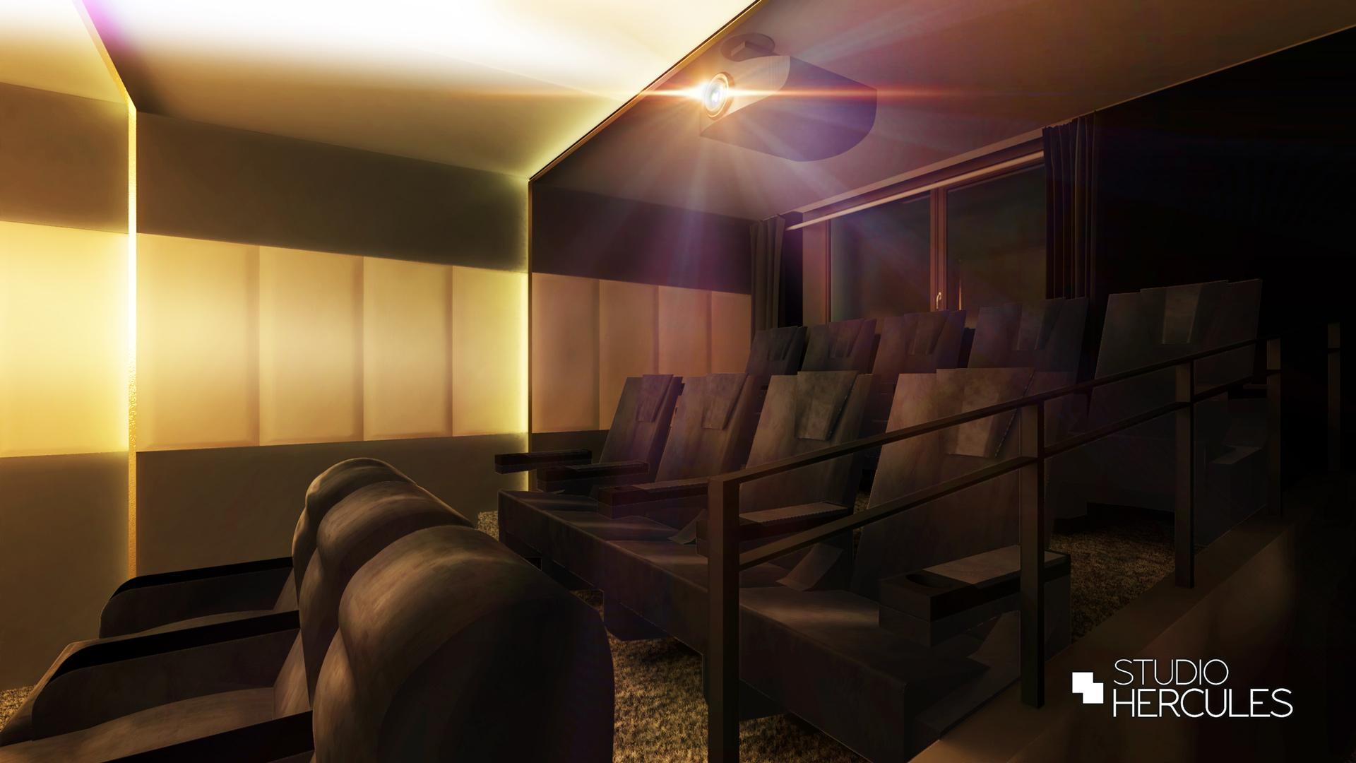 Wandpanelen in bioscoop in Blaricum met hoogwaardige afwerking