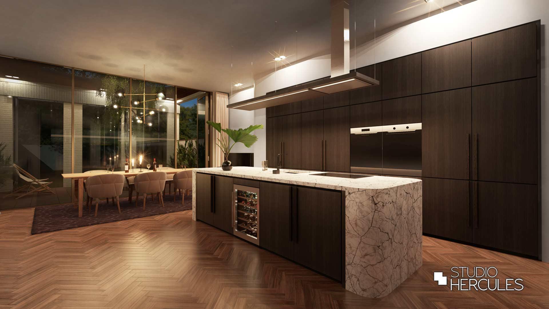 StudioHercules ontwerp luxe woonkeuken