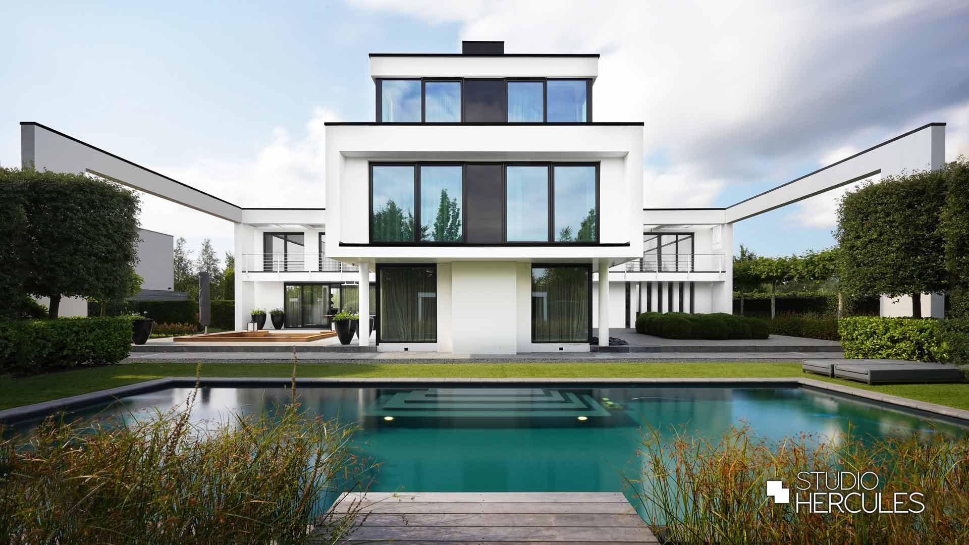 Symmetrie modern villa modernistisch architect StudioHercules