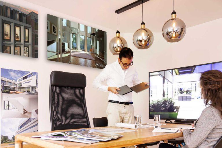 Kennismaken materiaalpresentatie architect