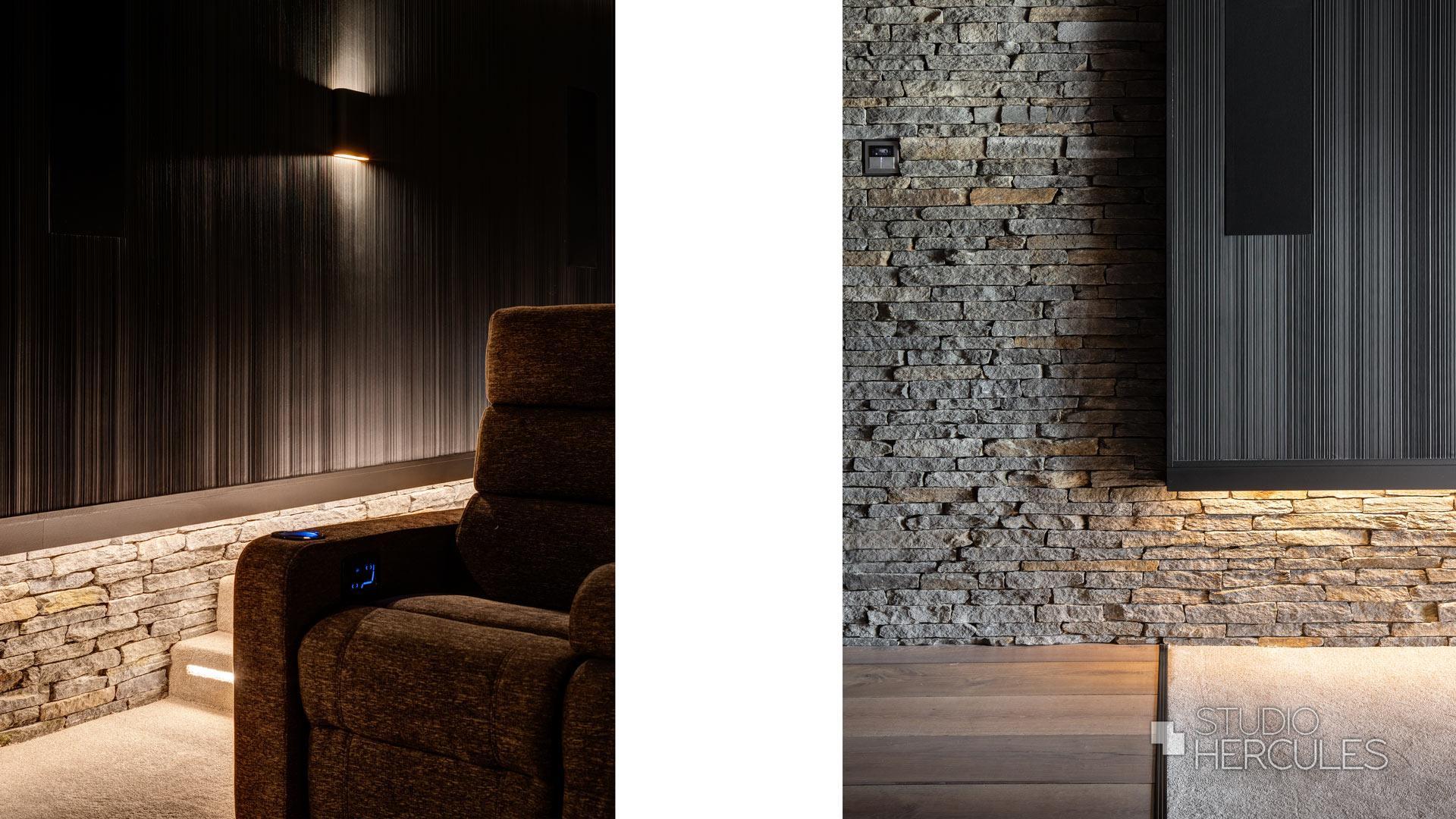 VIP stoelen voor thuisbioscoop in villa Zuid Holland