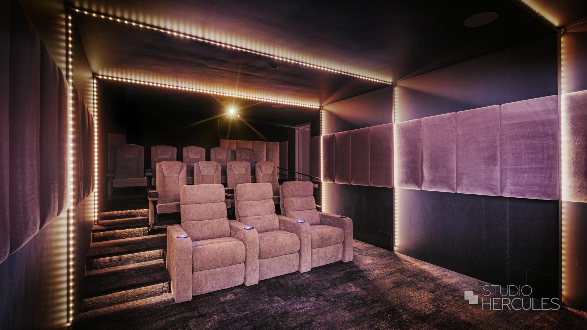 Blinde techniek home cinema VIP stoelen